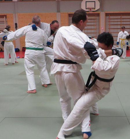Stützpunkttraining Ju-Jutsu beim SCUG: Komplexaufgaben